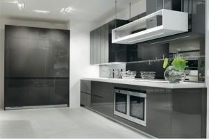 Ekslusivt kjøkken i grå høyglans