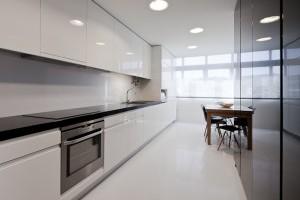 Moderne høyglans kjøkken